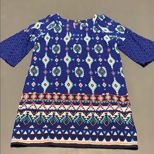 Printed Girls Shift Dress